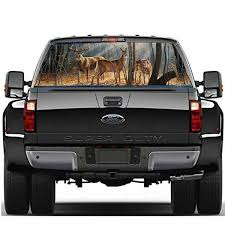 Deer Family Window Graphic Tint Decal Sticker Truck For Car Wish
