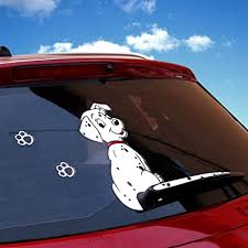 Amazon Com Car Rear Window Decals Rylybons Funny Car Auto Body Sticker Dog Moving Tail Rear Windshield Window Wiper Side Truck Graphics Decals Silvery Arts Crafts Sewing