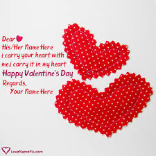 write name on cute valentines quotes