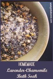 lavender chamomile bath soak recipe