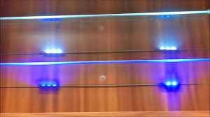 Blue Led Lights Edge Lit Glass Cabinet Shelf Backlighting How To