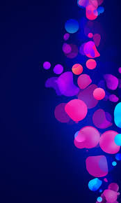 abstract blue pink shapes galaxy s2
