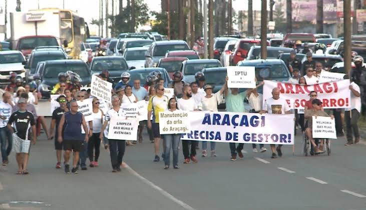 Resultado de imagem para manifestação no araçagi 2019