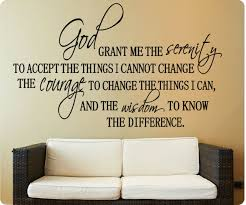 36 Full Serenity Prayer God Grant Me To Accept Cannot Change Wall Decal Sticker For Sale Online Ebay