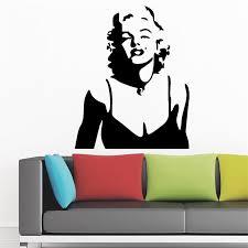 Marilyn Monroe Vinyl Wall Decal Famous People Home Decor Living Room Bedroom Diy Art Mural Removable Wall Stickers Wall Sticker Removable Wall Stickersvinyl Wall Decals Aliexpress