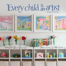 Every Child Is An Artist Pablo Picasso Quote Wall Decal Etsy