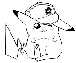 Kleurplaat Pikachu 8