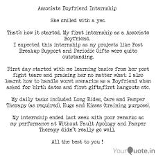 associate boyfriend inter quotes writings by abhishek