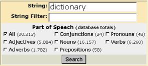regex dictionary