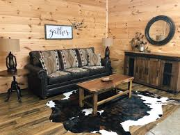 cabin themed queen size sleeper sofa