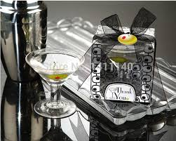 martini glass wedding party candle