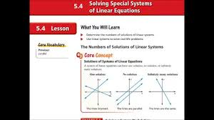 alg ch 5 4 solving special systems