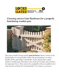Choosing Correct Gate Hardware For A Properly Functioning Wooden G Authorstream