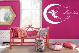 Fairy Moon Personalized Name Wall Decal Home Decoration Accessories Lovely Baby Girls Bedroom Applicable Nymph Art Gifts Syy229 Baby Girl Bedroom Girls Bedroomname Wall Decals Aliexpress