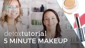 detox tutorial 5 minute skin makeup