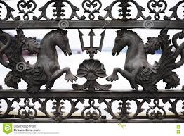 The Fence Of The Blagoveshchensk Bridge Across The Neva River In St Petersburg Stock Image Image Of City Horses 75933735