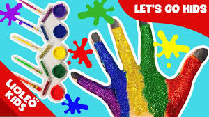 Bé học tiếng Anh về Màu sắc - Colors | Bàn tay cầu vồng Color Fingers Song|  Lioleo English for kids - YouTube