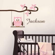 Owl Decal Monogram Childrens Wall Decals Nursery Wall Decals Vinyl Lettering Wall Art 50 100cm Wish