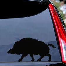 Car Truck Graphics Decals Motors Wild Boar Pig Vinyl Car Sticker Styling Animal Silhouette Decorative Car Decal Megeriancarpet Am