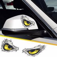 Reflective 3d Eyes Decals Car Stickers Rearview Mirror Car Head Styling Sticker Walmart Com Walmart Com