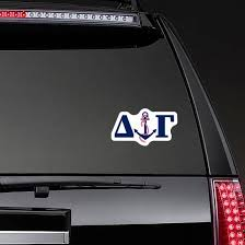 Delta Gamma Letters And Anchor Sticker