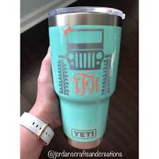 Jeep Tumbler Diytumbler Jeeptumbler Jeeplife Jeepin Jeepgirl Jeeplife Yeti Jordanscraftsandcreations Diy Tumblers Jeep Cup Decal