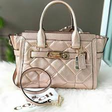 coach swagger 27 patchwork rose gold