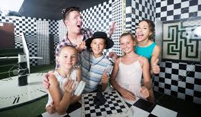 Family With Kids Are Satisfied After Visit Of Escape Room Stylized Stock Photo Picture And Royalty Free Image Image 96408292