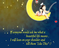 life quotes life quotes and the picture of the gold moon in the