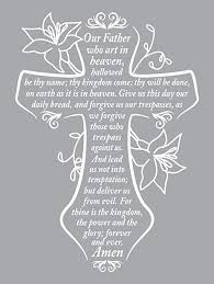 Amazon Com Prayer Cross Wall Decal Is A Vinyl Wall Decal Displaying An Our Father Prayer Great Wall Art Sign Or Decorations For Your Home Or Room Wall Similar To Stickers And Posters