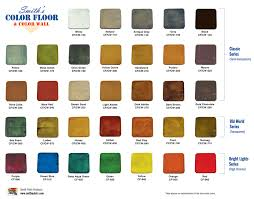 styles of stained concrete floors