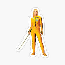 Uma Thurman Kill Bill Sticker By Svene Redbubble