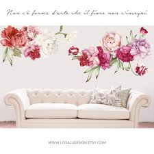 Giant Floral Peonies Wall Decals Peel And Stick Lovaludesign
