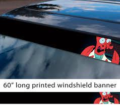 Buy 60 Doctor Dr Zoidberg Whoop Geek Funny Sun Strip Printed Windshield Car Vinyl Sticker Decal