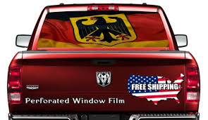 German Flag Car Window Wrap Decal Germany Car Graphics Decal Etsy
