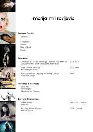 freelance makeup artist resume sle
