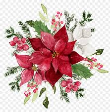 watercolor decorative red flower