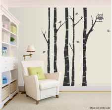 Birch Tree Wall Decal With Birds Tree And Owl Wall Decal Nursery Wall Decals Nursery Wall Decals Tree Birch Tree Decal