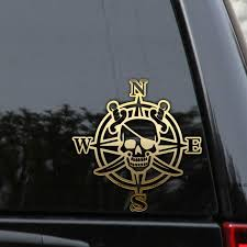 Pirate Compass Decal Sticker Nautical Car Truck Window Laptop Wall Rlgraphics Pirate Compass Nautical Car Decals Stickers