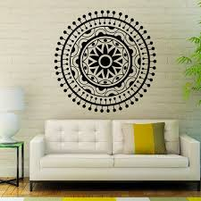 Shop Mandala Om Yoga Indian Pattern Oum Sign Vinyl Sticker Bedroom Kids Room Decor Sticker Decal 33 X 33 Color Black Overstock 15383138