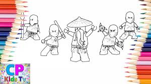 Lego Ninjago Coloring Pages,Red,Blue...How to Color All Lego ...