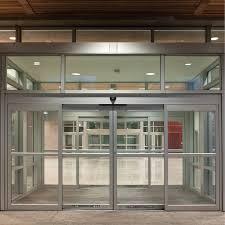 heavy glass doors glass