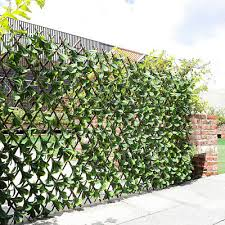 Artificial Laurel Leaf Trellis Walls Expanding Screen Privacy Fence Garden Decor Ebay