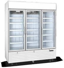 3 door display freezer vertical glass