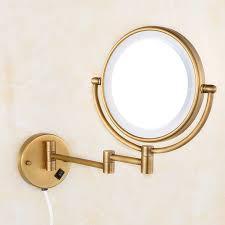 bath mirrors brass antique 8 round