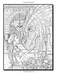 Amazon Com Dragons An Adult Coloring Book With Fun Beautiful