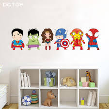 Cartoon Funny Superhero Wall Stickers For Kids Room Children Boys Nursery Pvc Wall Decals Poster Art Mural Sticker Home Decor Buy At The Price Of 4 39 In Aliexpress Com Imall Com