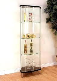 modern corner curio cabinet s glass