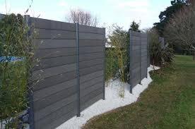 Wood Composite Garden Fence Forexia Anthracite Silvadec Fence Design Fence Decor Backyard Fences