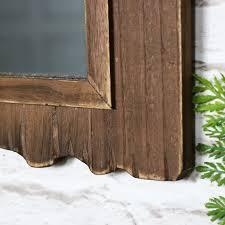 dark driftwood wall mirror melody maison